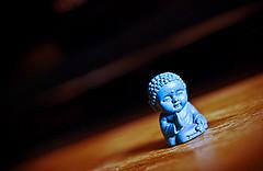 little blue buddha